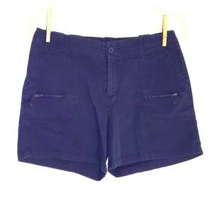 Navy stretch shorts